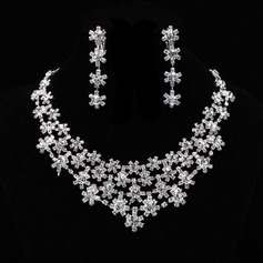 Snowflakes Shaped Alloy/Rhinestones Ladies' Jewelry Sets
