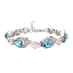 Chic Copper/Zircon/Platinum Plated Ladies' Bracelets