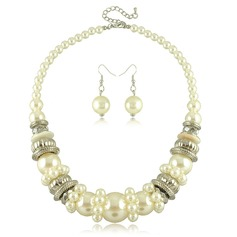 Exquisite Alloy Imitation Pearls Ladies' Jewelry Sets