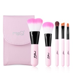 Pretty 5Pcs Pink Pouch Makeup Supply With Mirror