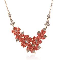 Beautiful Acrylic Zinc Alloy Ladies' Fashion Necklace