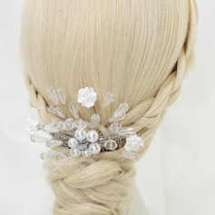 Glamourous Crystal/Alloy/Imitation Pearls/Ceramic Combs & Barrettes