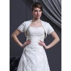 Short Sleeve Satin Wedding Wrap