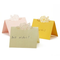 Roses Laser Cut Pearl Paper Place Cards