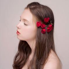 Lovely Alloy/Silk Flower Hairpins