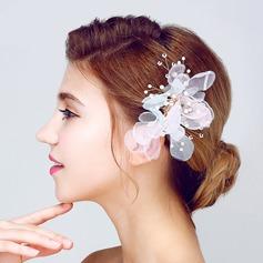 Elegant Imitation Pearls/Silk Flower Flowers & Feathers