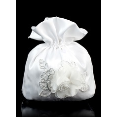 Satin With Lace Handbag
