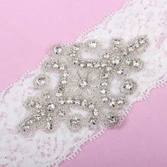 Attractive Lace With Rhinestone Wedding Garters