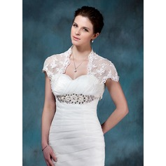 Short Sleeve Lace Wedding Wrap