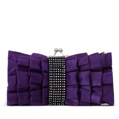 Unique Silk With Rhinestone Clutches