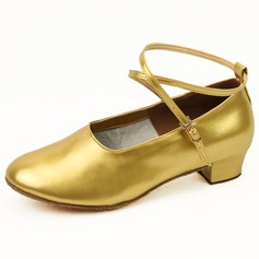 Women's Kids' Patent Leather Flats Modern With Ankle Strap Dance Shoes