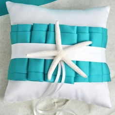 Beach Themed Ring Pillow With Starfish