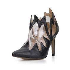 Women's Leatherette PVC Stiletto Heel Pumps Closed Toe Boots Ankle Boots shoes