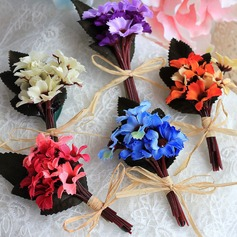 Pretty Soap Flower Boutonniere -