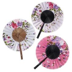 Floral Design Bamboo/Satin Hand fan