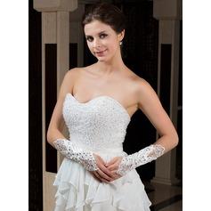 Elastic Satin Elbow Length Party/Fashion Gloves/Bridal Gloves