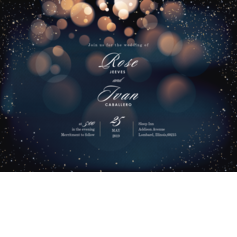 Twinkle Stars Wedding Cards