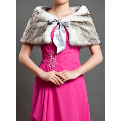 Charmeuse Faux Fur Special Occasion Shawl