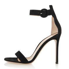 Women's Suede Stiletto Heel Sandals shoes