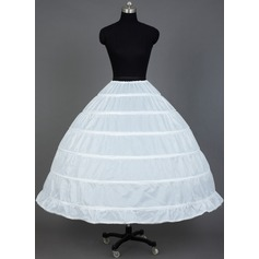 Women Nylon Tea-length 1 Tiers Petticoats (037031007)