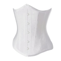Polyester/Spandex Strapless Lace-Up/Front Busk Closure Shapewear