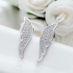 Lovely Copper/Zircon/Platinum Plated Women's/Ladies' Earrings