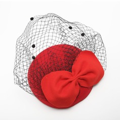 Ladies' Gorgeous Autumn/Winter Net Yarn/Velvet With Bowknot Fascinators