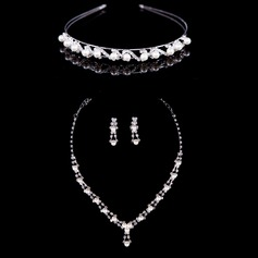 Shining Alloy/Pearl With Rhinestone Ladies' Jewelry Sets