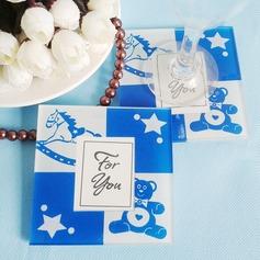 Cute Bear Glass Coaster