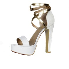 Suede Chunky Heel Sandals Platform Peep Toe With Buckle shoes
