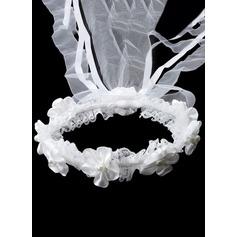 Imitation Pearls With Lace/Rhinestones Headbands
