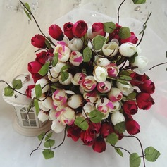 Charming Hand-tied Cloth Bridal Bouquets