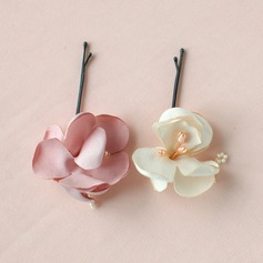 Lovely/Flower Shaped Alloy/Satin Combs & Barrettes