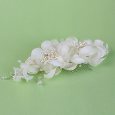 Glamourous Crystal/Rhinestone/Imitation Pearls/Artificial Silk Combs & Barrettes/Flowers & Feathers