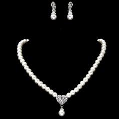 Elegant Alloy/Pearl/Rhinestones Women's Jewelry Sets