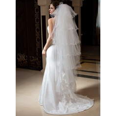 Seven-tier Waltz Bridal Veils With Scalloped Edge