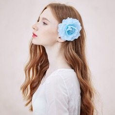 Charming Artificial Silk Combs & Barrettes/Flowers & Feathers
