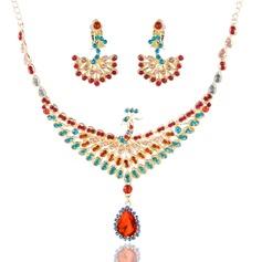 Stylish Alloy/Rhinestones Ladies' Jewelry Sets