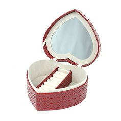 Heart Shaped PU Ladies' Jewelry Box