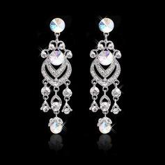 Luxurious Alloy/Czech Stones Ladies' Earrings