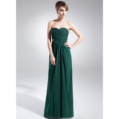 A-Line/Princess Sweetheart Floor-Length Chiffon Mother of the Bride Dress With Beading