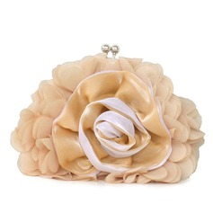 Lovely Chiffon With Flower Clutches