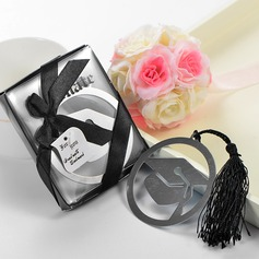 Doctorial Hat Design Stainless Steel Bookmarks With Tassel