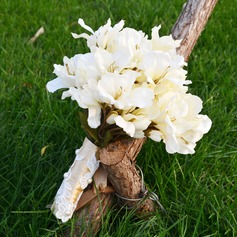 Fascinating Hand-tied Artificial Silk Bridal Bouquets -