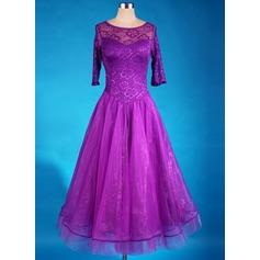 Women's Dancewear Spandex Organza Latin Dance Dresses