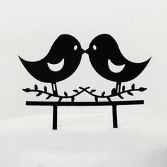 Lovely Birds Acrylic Wedding Cake Topper