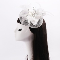 Ladies' Beautiful Feather/Lace/Tulle With Rhinestone/Bowknot Fascinators