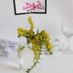 Elegant Glass Place Card Holders