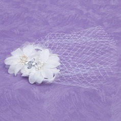 Kids Lovely Feather/Tulle Fascinators With Rhinestone