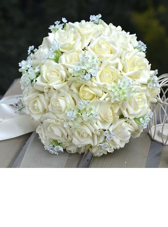 Charming Round PE Bridal Bouquets/Bridesmaid Bouquets